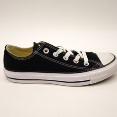 8a42aa018d86f2 New Converse Womens Black   White All Star Low Classic Lace Up Canvas Shoes  Sz 6
