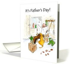 Father's Day Card - Relaxing in Garden Shed: up to $3.50 - http://www.greetingcarduniverse.com/holiday-cards/fathers-day-cards/general-fathers-day/fathers-day-card-relaxing-798212?gcu=43752923941