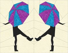 Singing in the Rain- Paper Pieced Block