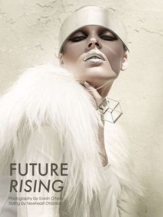 Metallic Lipstick Photoshoots - Fashion Gone Rogue 'Future Rising' Stars a Sci-Fi Beegee Margenyte (GALLERY)