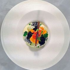 from @chefjasonhoward -  Over head shot of....Salmon with green winter veg and cream of caviar sauce with crips salmon skin and spicy tomato chutney..#Caribbeanculinarycollective #topcaribbeanchef #gastroart #theartofplating #chefstalk #chefsofinstagram #chefsroll #thefeedfeed #beautifulcuisinesj by dublinfoodlover