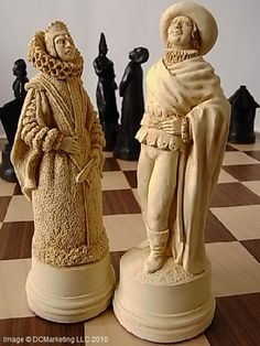Christopher Columbus Plain Theme Chess Set  by Mascott - Made in England  King Height: 6 (15cm)  Chess Pieces: Heavy weighted plain theme chess pieces in crushed marble and resin