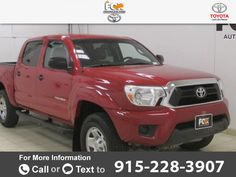 2012 *Toyota*  *Tacoma* *PreRunner*  86k miles Call for Price 86300 miles 915-228-3907 Transmission: Automatic  #Toyota #Tacoma #used #cars #FoxToyotaofElPaso #ElPaso #TX #tapcars