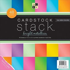 DCWV Cardstock Stack, Bright Metallics, 48 Sheets, 12 x 12 inches Die Cuts With a View http://www.amazon.com/dp/B00C6WV8NS/ref=cm_sw_r_pi_dp_pzVzwb1N4RPTM