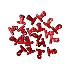 Metal Bulldog Clips Binders Clamps Paper Documents Office Organizer 20 Pack Red #OfficeSupplies