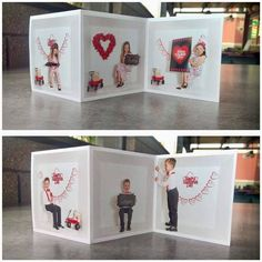 ACCORDION STYLE VALENTINE'S DAY CARDS FOR INSIDE THE BOX AND GENERAL PHOTOGRAPHY Valentines Day Card Templates, Greeting Card Template, Valentine Day Cards, Box Design Templates, Holiday Photography, Photography Templates, Inside The Box, Custom Cards, Photo Booth