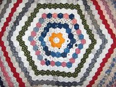 Humble Quilts: Antique Hexagon Quilts