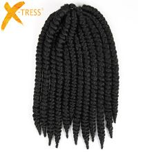 X-TRESS #1 Natural Black Omber Colors Synthetic Hair Extensions Havana Mambo Twist Braiding Hair Crochet Braids 14'' 12'' //FREE Shipping Worldwide //