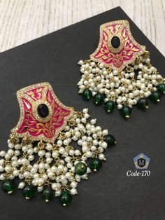 Kundan Earrings Available at Ankh Jewels  For booking WhatsApp on +91 9619291911... #bridaljewelrykundan