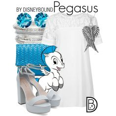 Pegasus by leslieakay on Polyvore featuring Motel, Deux Lux and Tressa