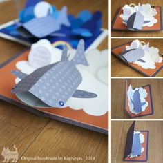 original handmade [pop-up card] Whale shark ************************************* [YouTube] http://youtu.be/4ahF12ZMz8w http://youtu.be/Vzg8eVJckDI