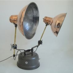1950 - Twin Table Lamp - Skinflint Design