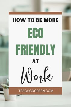 Being environmentally conscious doesn't have to stop at home! You can also be eco-friendly at work! For most of us working moms, we spend more time at work than we do at home. This means that our eco-friendly practices should carry from our personal space to our workspace. If you're looking for ways to go green at work to reduce your impact on the Earth, you're in the right place. This blog is filled with tips to green your office! Working Mom Tips, Working Mums, Green Living Tips, Greenhouse Gases, Personal Space, Mom Hacks, Breastfeeding Tips, Go Green, Mom Blogs