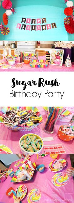 Sugar Rush Birthday Party It officially happened! We have a 4 year old now. I don't really know how it happened, but my little girl is growing up! It has been interesting to see what theme she chooses for her birthday parties each year. So far, she has always chosen a party theme that matches …