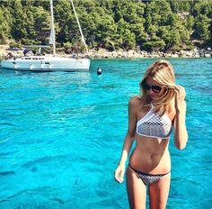 Zimmermann bikini via Tuula Vintage Bikini Poses, Beach Essentials, Summer Bikinis, Swimsuits, Swimwear, Crochet Bikini, Swimming, Boho, Chic