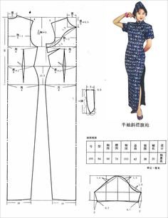How To Make a Cheongsam Dress Pattern - - Yahoo Image Search Results Clothes Crafts, Sewing Clothes, Fashion Sewing, Diy Fashion, Clothing Patterns, Sewing Patterns, Cheongsam Dress, Dress Making Patterns, Chinese Clothing