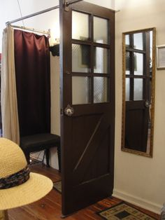 Check the use of this old door as a divider