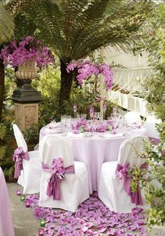 Al Fresco Dining - Lilac Purple Wedding, Wedding Flowers, Dream Wedding, Wedding Table, Wedding Reception, Wedding Ideas, Patio Wedding, Garden Wedding, Wedding Photos