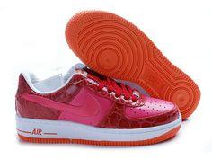 online store d049e b2ef5 Chaussure Nike Air, Chaussures Nike, Rouge, Nike Air Force One, Air Force