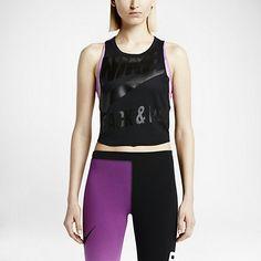 Damska koszulka bez rękawów Nike T/F Mesh Cropped