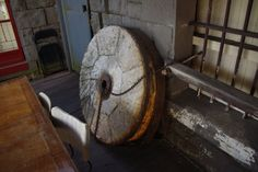The stone flour wheel that my Grandad used to grind wheat with in Kynton