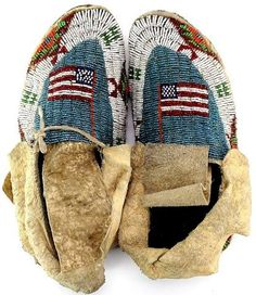 C. 1890-1910 fully beaded Sioux moccasins