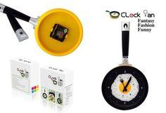 Relógio de Parede no formato de frigideira de ovo!
