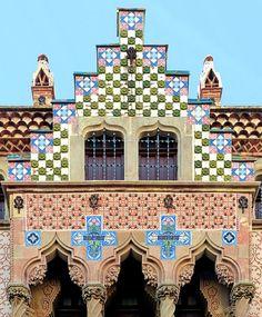 Barcelona - Casa Coll i Regàs  1898  Architect: Josep Puig i Cadafalch