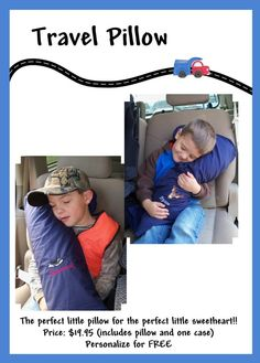 another seat belt pillow idea--after seeing Emily slumped over this is a must now that everybody is in a booster