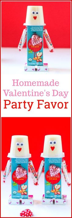 Is your child having a #Valentine's Day party? These DIY Valentine's Day Snacks make the cutest Valentine's Day #PartyFavor!