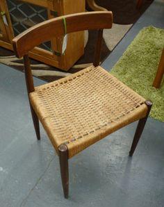 Set of 4 Danish 1950s Arne Hovmand-Olsen Morgens Mogens Kold / Kohl Teak Chairs www.shopatstfrancis.co.uk