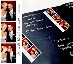 Photo Booth scrapbooks are an incredible wedding keepsake!