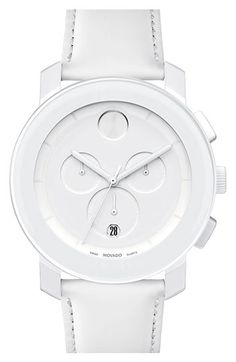 All white Movado watch perfect for summer