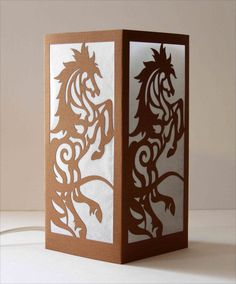 Laser cut Luminary 73  Rearing Horse by StarrDesign on Etsy