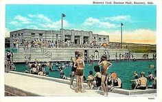 Kearney Nebraska NE 1937 Harmon Park Swimming Pool Collectible Vintage Postcard