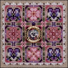 Just Nan - Pansies Please • Counted Thread Cross Stitch Designs from Just Nan