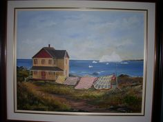 Coastal Newfoundland :by Kimberly Ropson Coastal Art, Newfoundland, Painting, Painting Art, Paintings, Paint, Draw