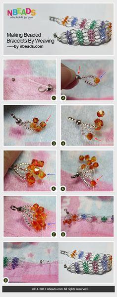 making beaded bracelets by weaving