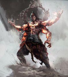 god of thunder fantasy art ; Character Concept, Character Art, Concept Art, Asura's Wrath, Fantasy Warrior, Fantasy Artwork, Fantasy World, Mythical Creatures, Fantasy Characters