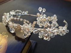 Handmade Bead and Rhinestone Wedding Headband Bridal by venusshop, $42.90
