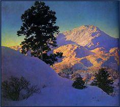 'Winter Sunrise' (1949) by Maxfield Parrish