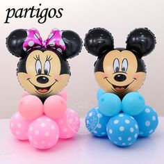 Minnie and Mickey mouse Head Foil upright Balloons Helium Cartoon mickey latex Balloons for Party decorations Mickey Minnie Mouse, Minnie Maus Ballons, Minie Mouse Party, Minnie Mouse Theme Party, Mickey Mouse Decorations, Balloon Decorations, Birthday Party Decorations, Mickey Birthday, Birthday Balloons