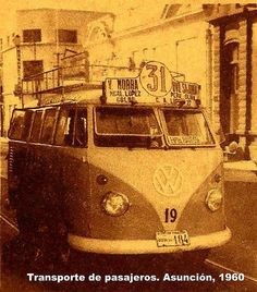 Micros de Asuncion años 1960 by Carlos Rivarola, via Flickr