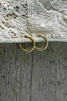 Small 14k Yellow Gold Hoops