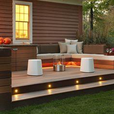 Terrasse en bois de style moderne