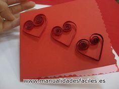 Tarjeta en filigrana de san valentin