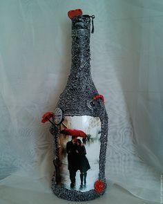 """Купить Бутылка в подарок """"Красный зонт"""" Подарок на 14 февраля - подарок девушке, подарок женщине"""