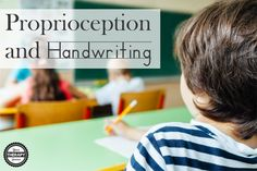 Research on proprioception and handwriting indicates a significant negative correlation between handwriting legibility and kinetic sense.