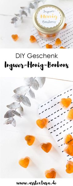 Bonbons selber machen mit Ingwer und Honig – ein tolles DIY Geschenk zu Weihnach… Make your own candy with ginger and honey – a great DIY gift for Christmas or your birthday – DIY gift from the kitchen Birthday Diy, Birthday Gifts For Her, Birthday Presents, Food Gifts, Diy Gifts, Diy Lush, Cumpleaños Diy, Comida Diy, Blog Food