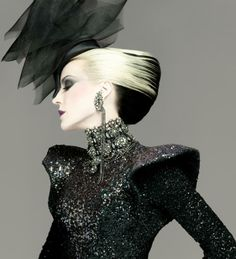 """Daphne Guinness in Alexander McQueen, photo by Laurent Philippon from """"Hair: Fashion and Fantasy"""""""